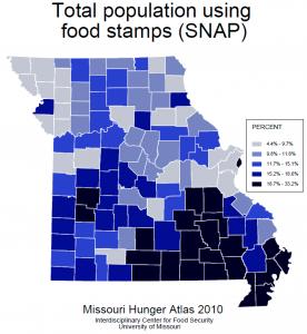Missouri Food Stamps Map