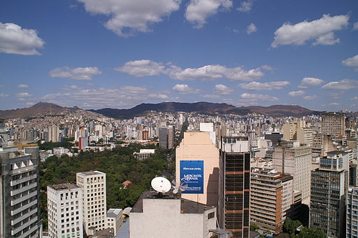 Belo Horizonte, Brazil - By Benjamin Thompson (Flickr: Belo Horizonte, Brazil) [CC-BY-SA-2.0 (http://creativecommons.org/licenses/by-sa/2.0)], via Wikimedia Commons