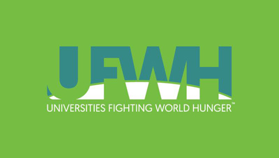 universities fighting world hunger logo green